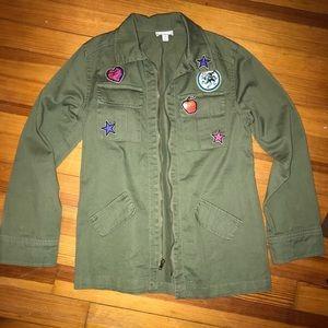 Girls Disney Decendents Military Style Jacket